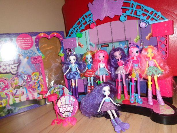 6 lalek GRATIS My Little Pony EQUESTRIA GIRLS Rainbow Rocks DUŻA SCENA