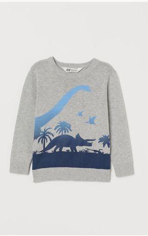 Bluza sweterek dinozaury H&M rozm 134 /140