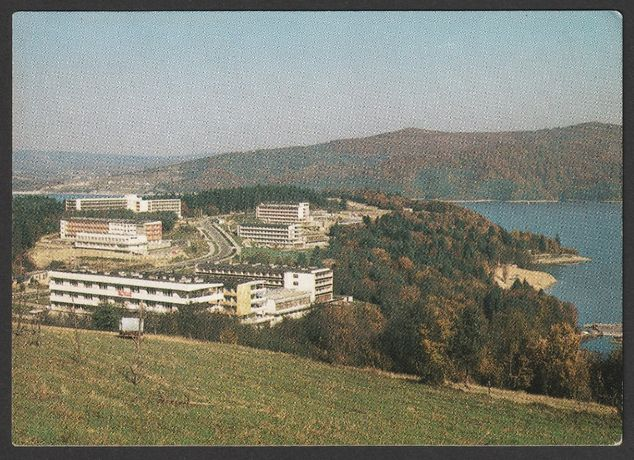 pocztówka - Polańczyk 1986 - domy wczasowe - PL1