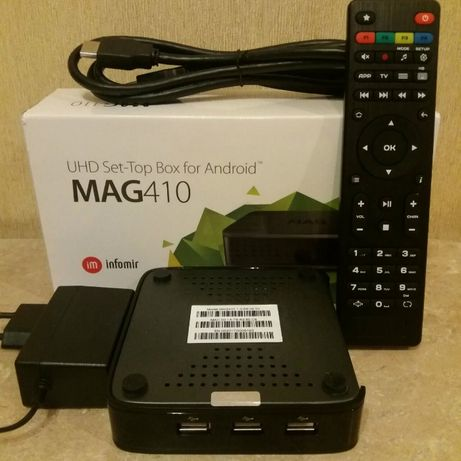 MAG410 Android SmartTV AmlogicS905X 4K 2/8 GB MAG250 254 322 AURA HD+