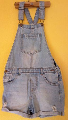 Ogrodniczki dziewczęce krótkie jeans, rozm. S