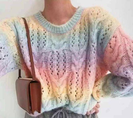 Sweterek ombre tecza uni od 36 do 42 hit modny nos jak chcesz