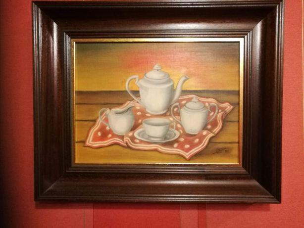Obraz olejny ręcznie malowany-sygnowany 1985r