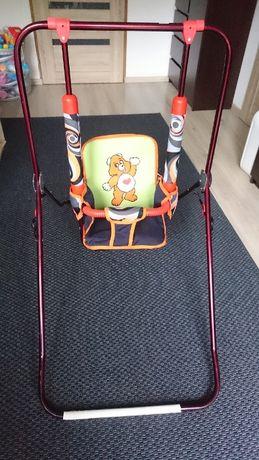 Huśtawka dla dziecka niemowlaka z misiem bdb+