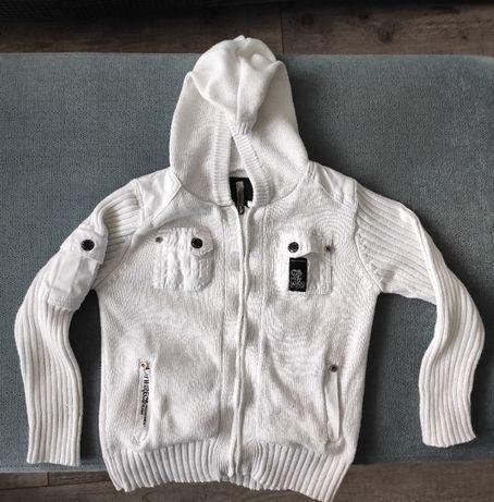 Elegancki, biały sweter dla dziecka - 110 cm (6zł)