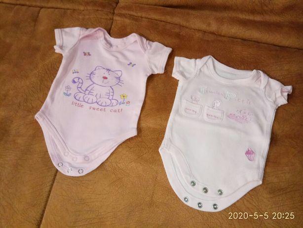 Набор летние боди 0-3 для девочки/пакет бодиков с коротким рукавом