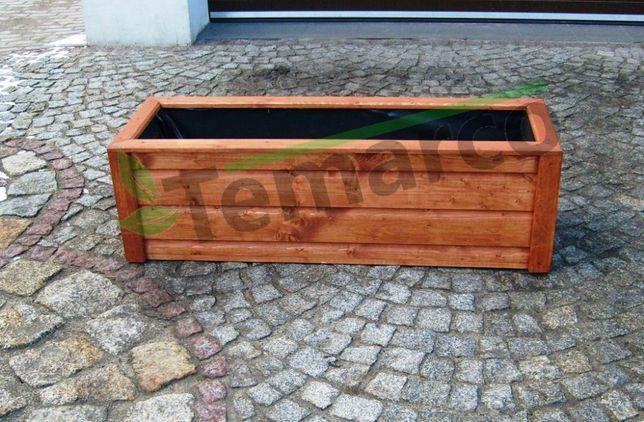 Donica drewniana doniczka donice doniczki na kwiaty na warzywa 120x40