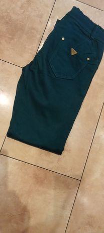 Spodnie dżinsowe butelkowa zieleń
