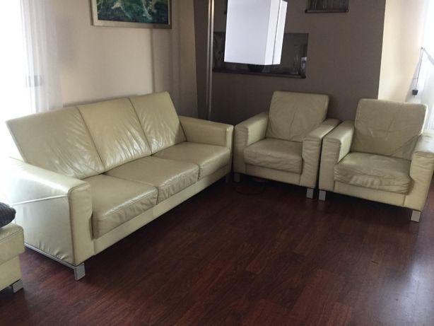 Sprzedam sofa i fotele skóra Kler