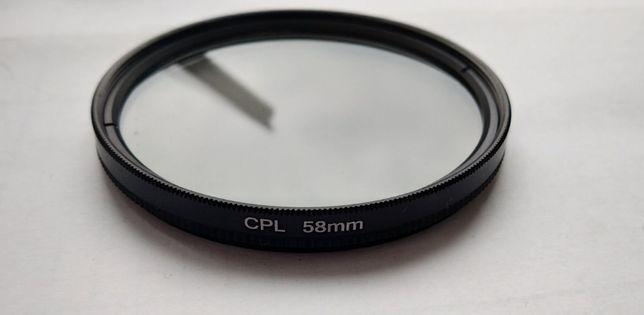 Фильтр поляризационный светофильтр CPL C-PL 58 мм
