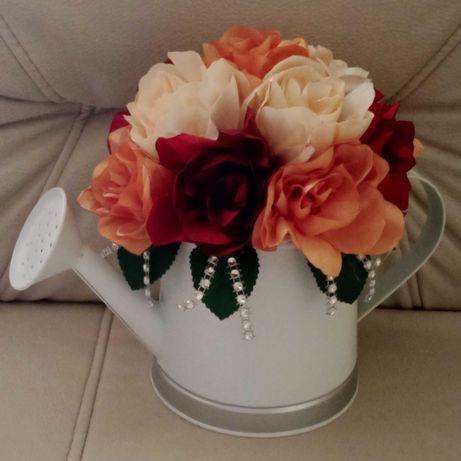 Kwiaty z wstążki