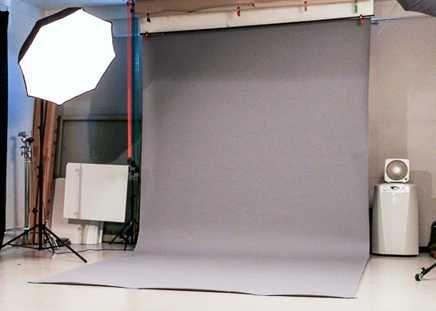 ТОП! Сірий фон для фото вініловий 1,6х3 м, серый виниловый фотофон