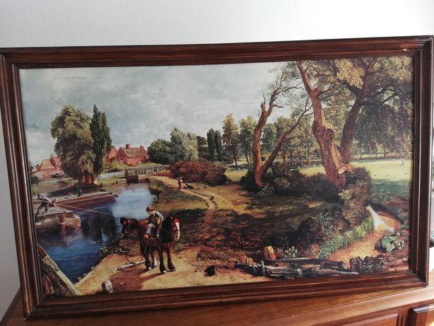 Reprodução a óleo, pintado à mão. Nome do quadro:Flatford Mill