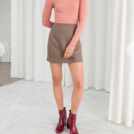 Мини юбка в мелкий квадрат