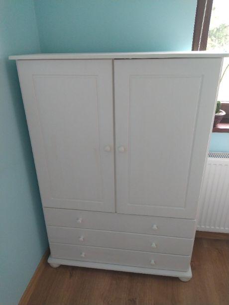 szafka biała drewniana