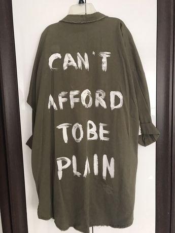 Koszula katana Zara khaki