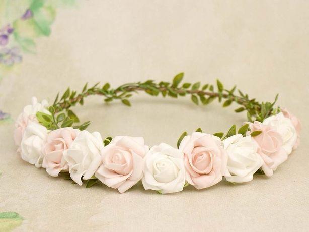 NOWY wianek pastelowy ślub sesja