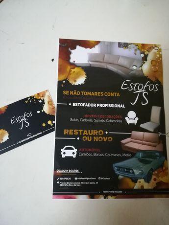 Estofador profissional de carros, sofás, etc. (Estofos JS)