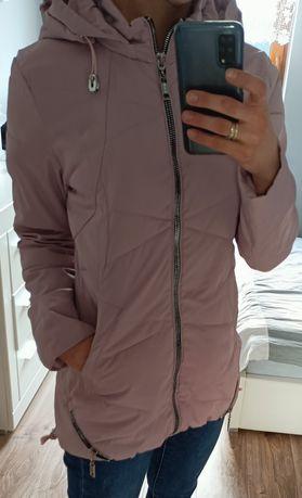 Kurtka, kurteczka, płaszczyk pikowana, różowa, wiosenna M