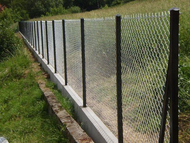 Siatka ogrodzeniowa ocynkowana oczko 65 x 65 wysokość 100 cm fi 3,0mm