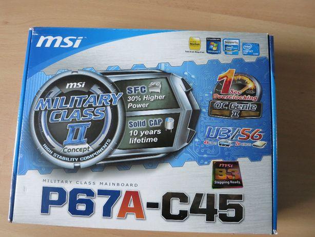 Procesor Intel 2500K 4,5GHz i płyta główna MSI P67A- C45(B3)