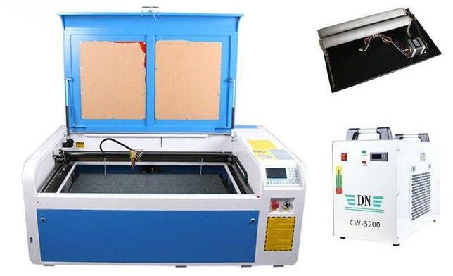 Laser CO2 100W + CHILLER 5200, bardzo mało używany