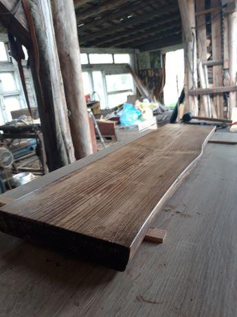 Loftowa półka live edge z prawdziwego drewna