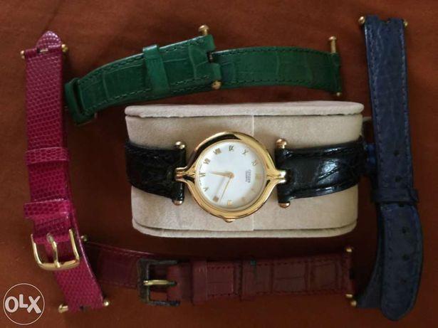 Relógio citizen original várias braceletes