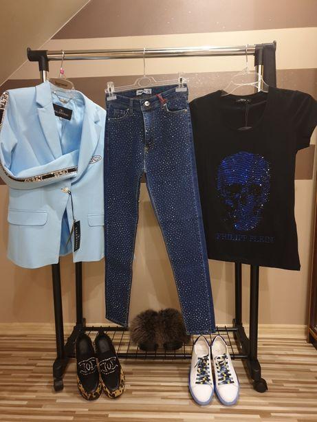 Spodnie Jeansowe Kamienie 28
