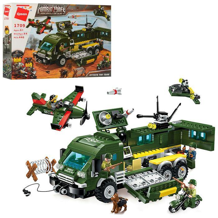 Конструктор Qman военный, машина-база, самолет, фигурки, 446 дета Кривой Рог - изображение 1
