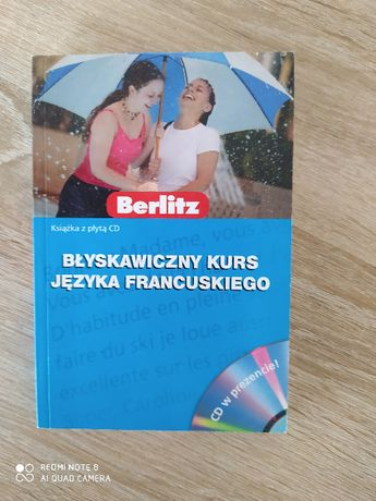 Błyskawiczny kurs języka francuskiego, rozmówki, płyta CD