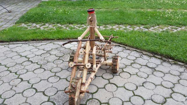 Rowerek ozdobny drewniany