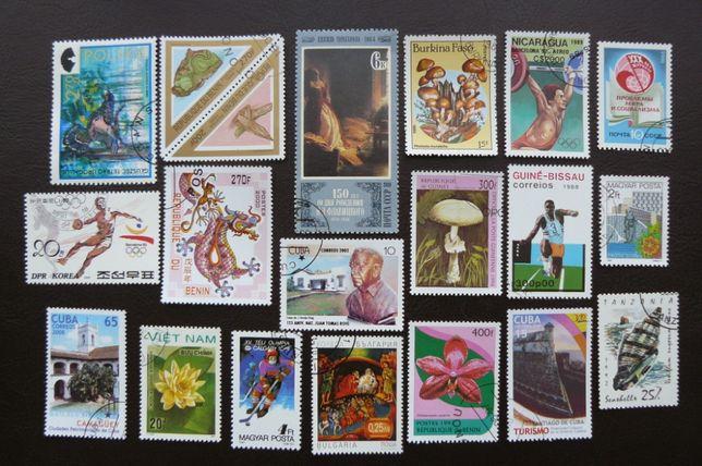 Znaczki pocztowe Kolekcja NOWE - PAKIET 30 sztuk DUŻA ILOŚĆ RABAT!
