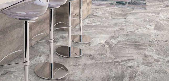 Płytki Marmur Atlantic Grey poler/szlif 61x40,6x1,2 cm Podłoga, Ściana