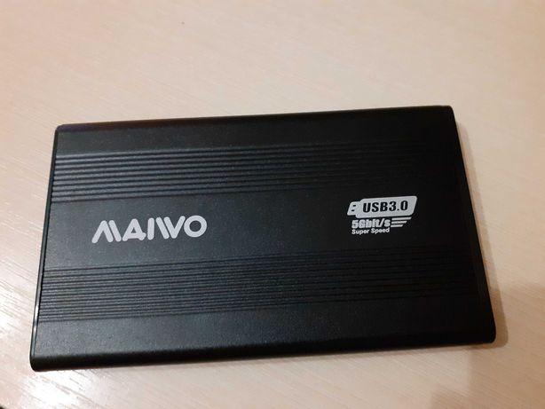 """Внешний карман Maiwo для HDD 2.5"""" SATA USB 3.0 Black (K2501A-U3S)"""