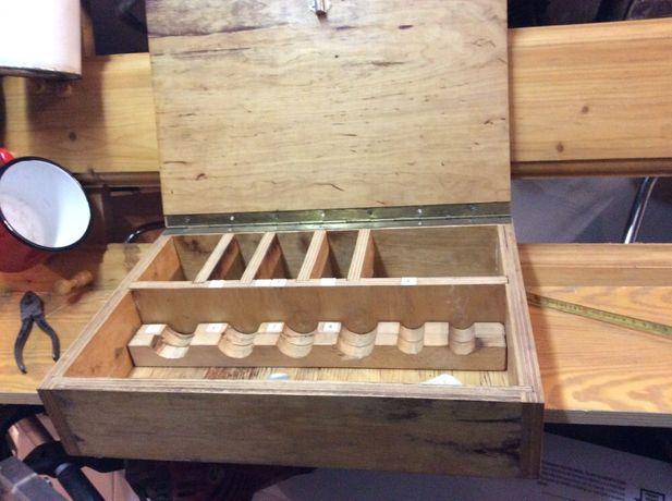 kaseta skrzynka drewniana duza