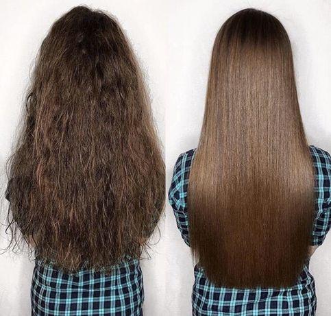 Кератинове вирівнювання волосся від 500 грн