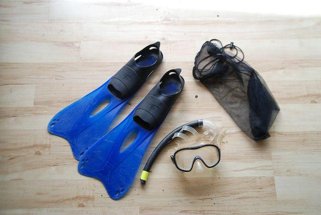 Płetwy + maska + rurka Tribord 43-44