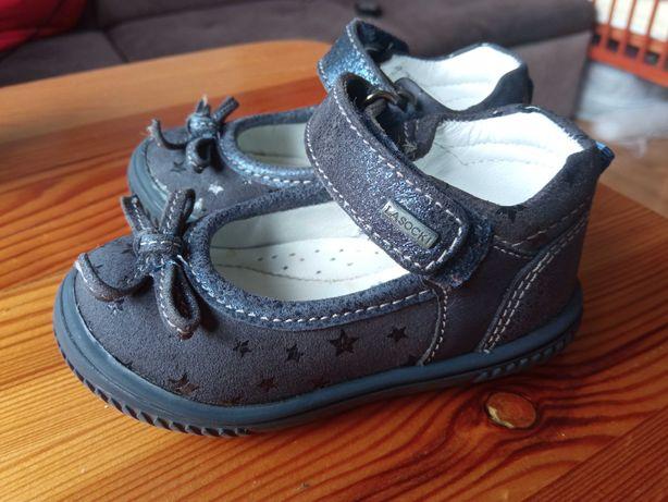 Granatowe balerinki, buciki dla dziecka r.19 Lasocki, jak nowe