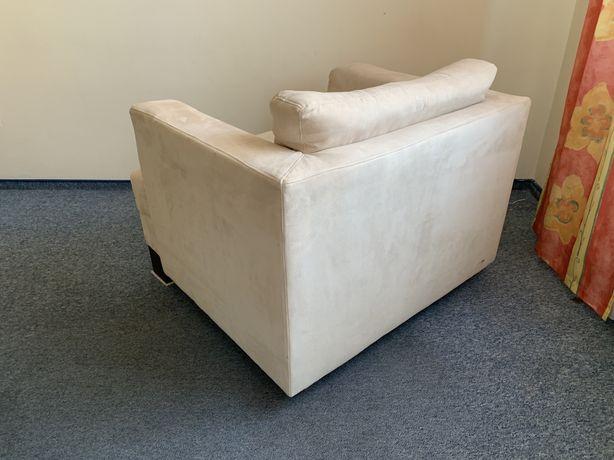 Fotel tapicerowany bezowy - bardzo dobry stan