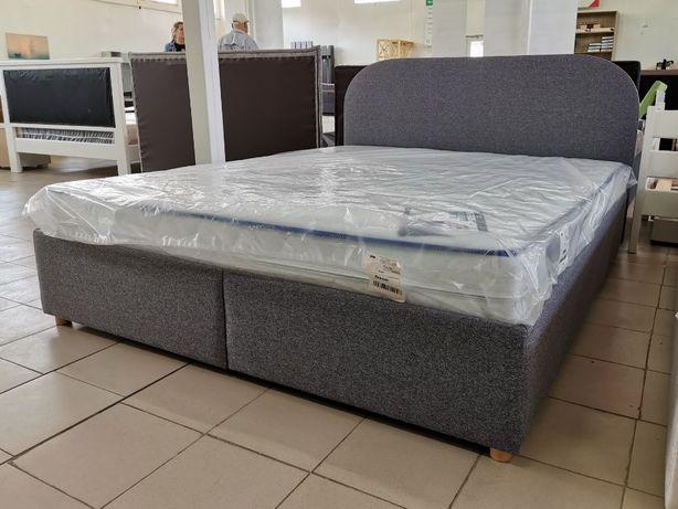 Мягкая двуспальная Кровать Round 160Х200 с нишей для белья