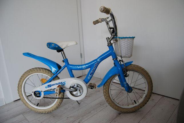 Rower dziewczęcy Sandy Accent 16 cali, niebieski