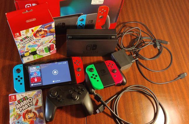 Nintendo Switch v2 plus akcesoria