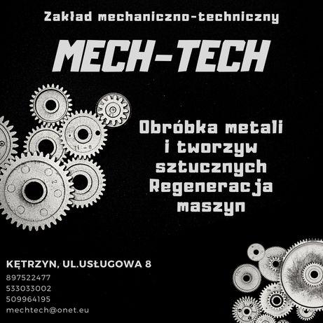 Obróbka stali i tworzyw sztucznych, regeneracja maszyn, siłowników