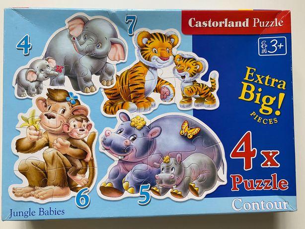 Пазл 5 Jungle Babies castorland Младенцы джунглей развитие детей
