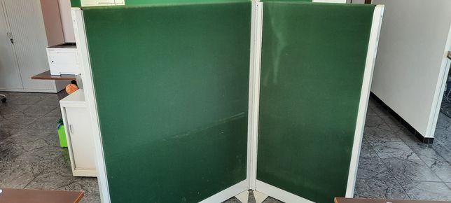 Biombo para escritório tecido verde