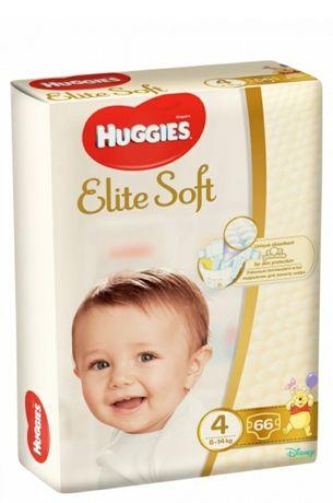 Подгузники Huggies Elite Soft размер 4, 8-14 кг, 66 шт