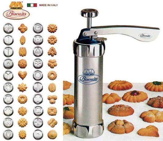 Шприц кондитерский алюминиевый пресс для печенья и крема 21 насадка