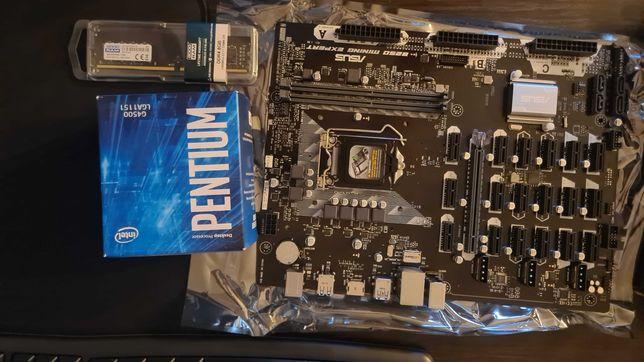 Nowy zestaw Asus B250 Mining Expert + Intel g4500 + 8gb RAM