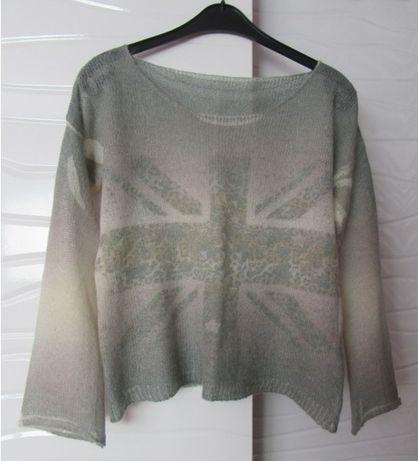Sweter mgiełka oversize WEŁNA/MOHER -Please-
